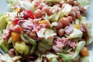 Nefis Nohutlu Ton Balıklı Salata Tarifi
