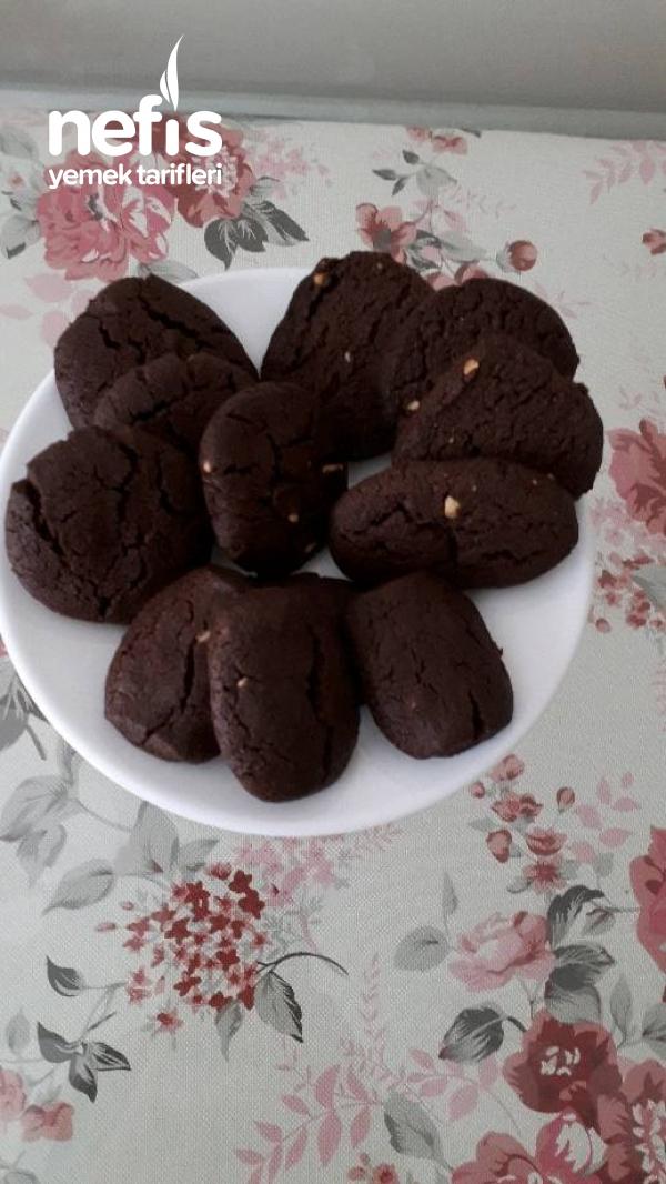Bisküvi Tadında Kakaolu Yerfıstıklı Kurabiye
