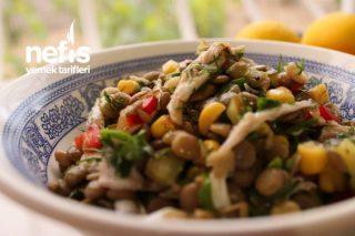 Kaparili Mercimek Salatası Tarifi