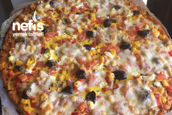Yufka Ekmeğinden Pizza Tarifi