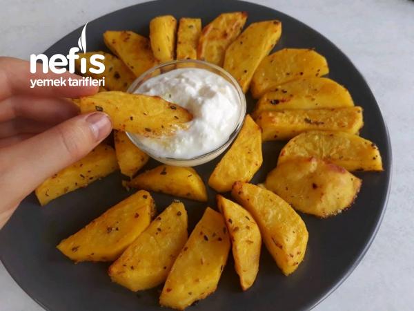 Fırında Özel Soslu Elma Dilimli Patates