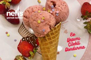 Ev Yapımı Çilekli Dondurma Tarifi