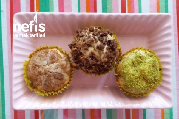 3 Süslemeli Muffin