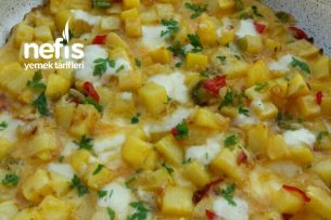 Beyaz Peynirli Patatesli Omlet Tarifi