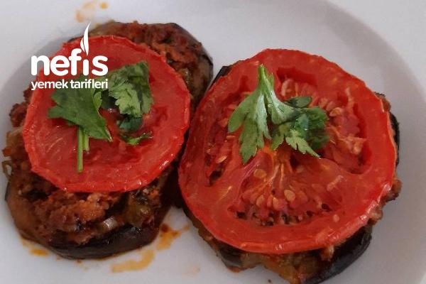 Fırında Kıymalı Patlıcan Dilimi Tarifi
