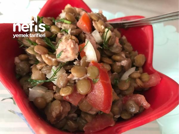 Ton Balıklı Yeşil Mercimek Salatası(sağlık Cümbüşü)