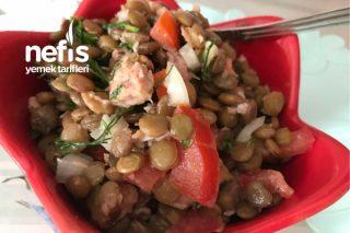 Ton Balıklı Yeşil Mercimek Salatası (Sağlık Cümbüşü) Tarifi