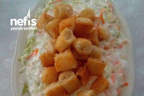 Çıtır Yufkalı Salata Tarifi