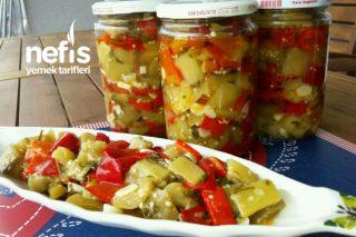 Kışlık Sirkeli Patlıcanlarım (Harika Mutlaka Deneyin) Tarifi