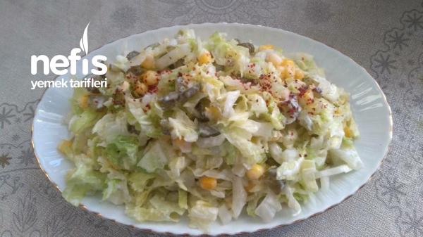 Turşulu Yoğurtlu Salata
