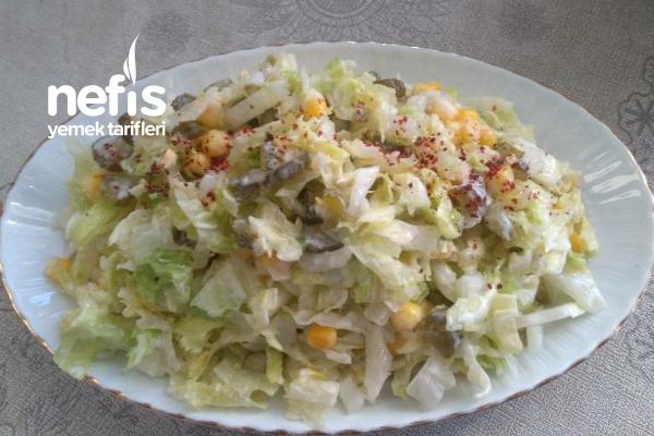Turşulu Yoğurtlu Salata Tarifi