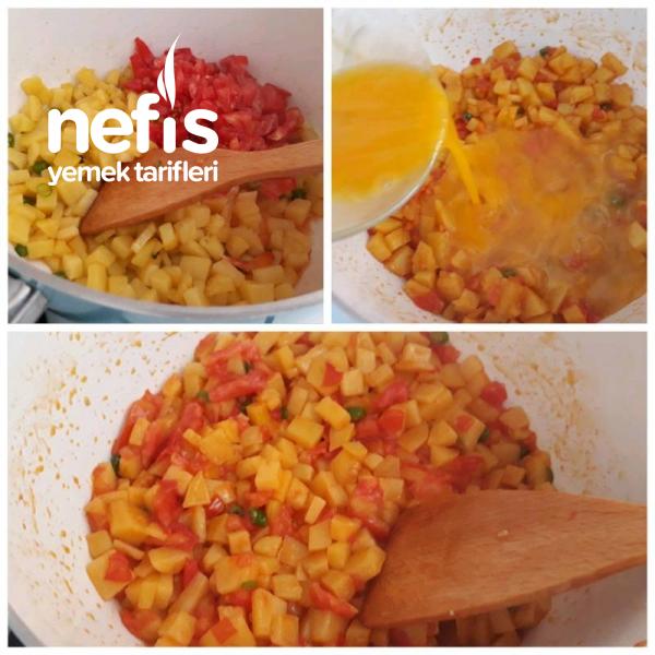 Kahvaltılık Domatesli Patates Omleti