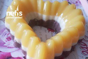 Portakal Soslu 3 Renkli İrmik Tatlısı Tarifi