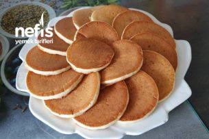 Duble Pofidik Pancake (Akşamdan Hazırla Sabah Pişir) Tarifi