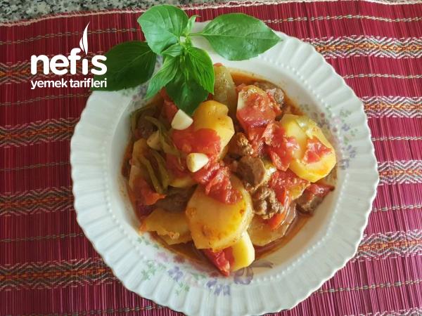 Etli Patates Tava ( Adana Usulü Tencere Yemeği)