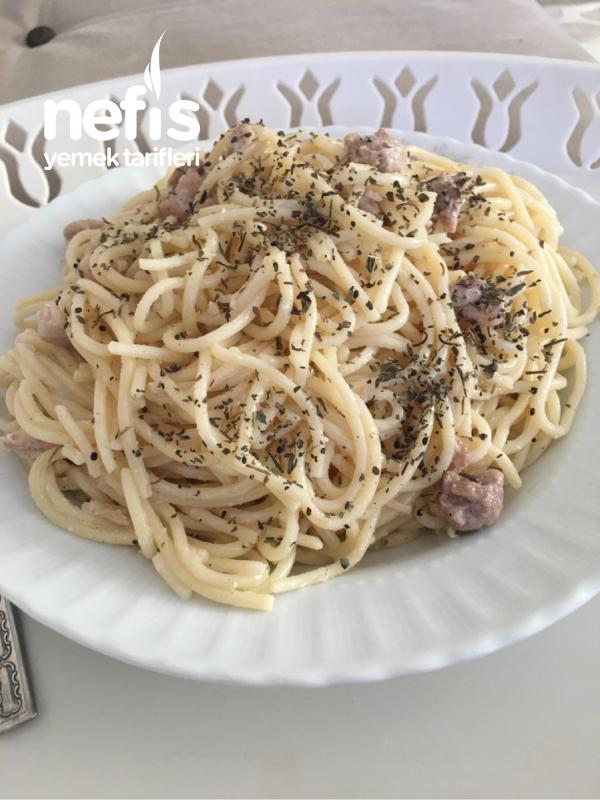 Kremalı Tavuklu Spagetti