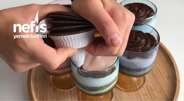 Pasta Tadında Kup Tatlısı (Videolu)
