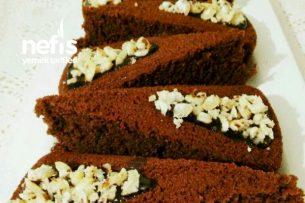Nemli Dokusuyla Çikolatalı Pay Kek Tarifi
