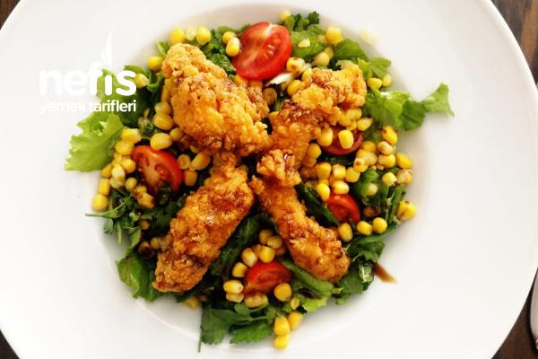 Chicken Fingers Salata Tarifi