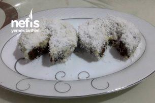 Hindistan Cevizli Ve Beyaz Çikolata Kaplı Marsmallow Dolgulu Kakaolu Kartopu Keki Tarifi