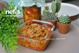 Közlenmiş Patlıcanlı Sos ( Kışlık Enfes Sos ) Tarifi