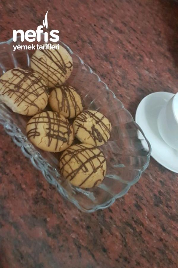 Çikolata Soslu Un Kurabiyesi
