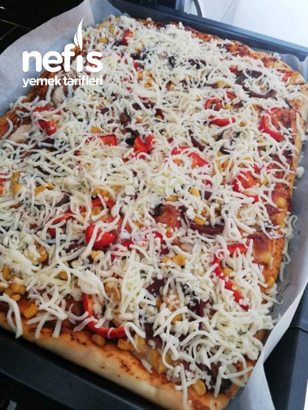 Tepsi Pizzası (Yumurta Yok Süt Yok)