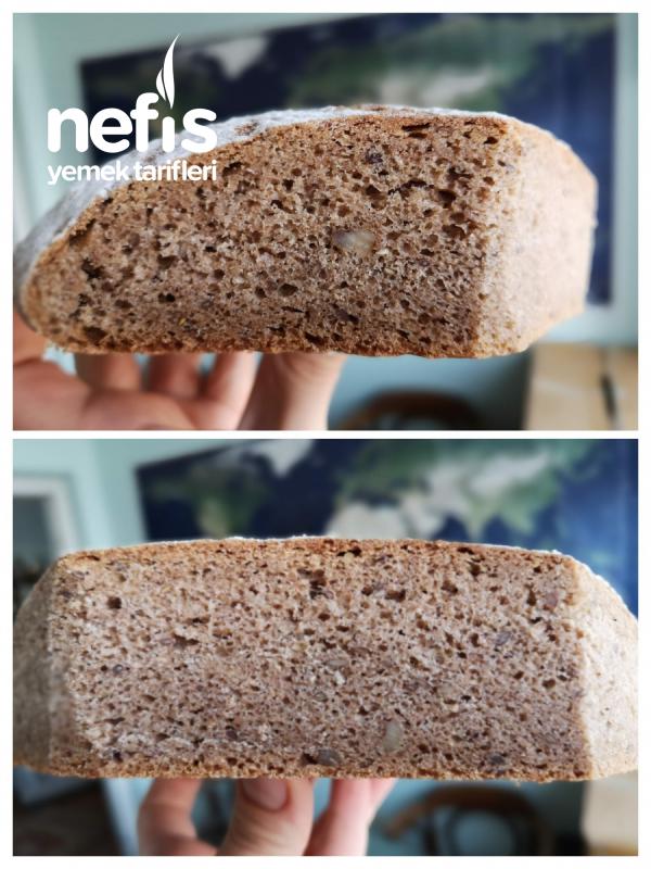 Cevizli Bademli Çavdarlı Tam Buğday Ekmeği