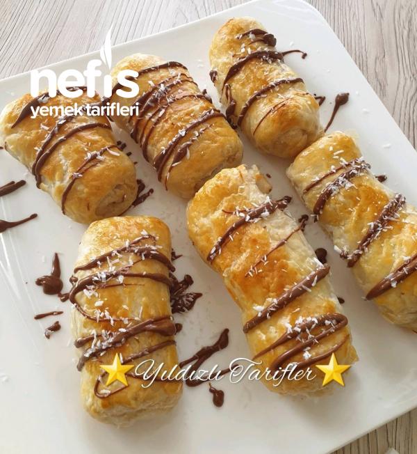Çikolatalı Milföy Rulo