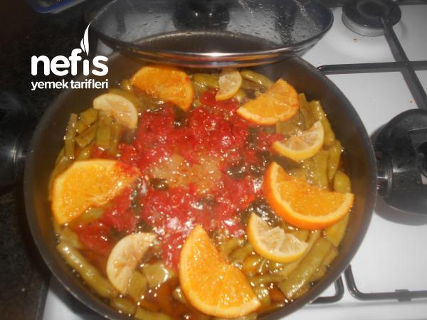 Portakallı Limonlu Zeytinyağlı Taze Fasulye