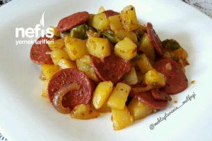Sucuklu Kahvaltılık Patates Kavurma Tarifi