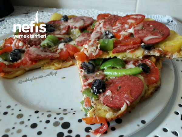 5 Dakika Pizzası Tabanı Patatesli