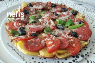 5 Dakika Pizzası Tabanı Patatesli Tarifi