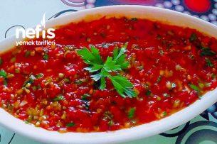 Acılı Ezme Salata (Lokanta Usulü) Tarifi