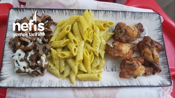 Lezzeti On Numara Pesto Soslu Makarna & Fırın Tavuk