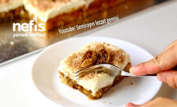 Muhallebili İncirli Enfes Pasta