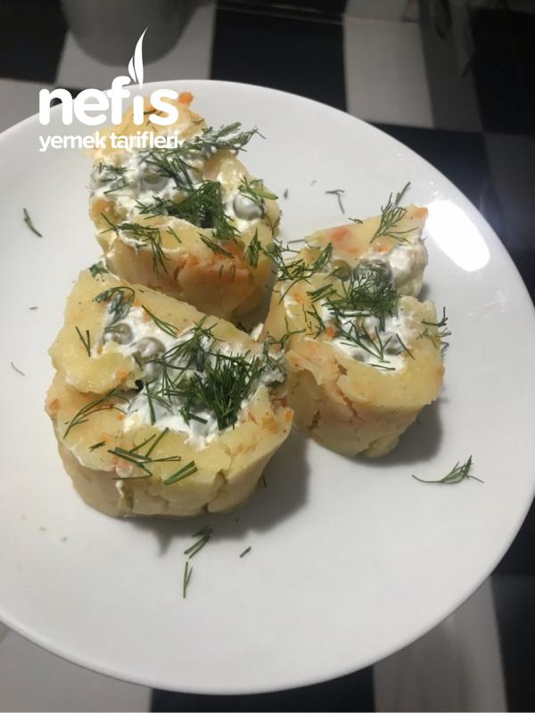 Patates Rulo ( Garnitürlü) Soğuk Meze Tadında