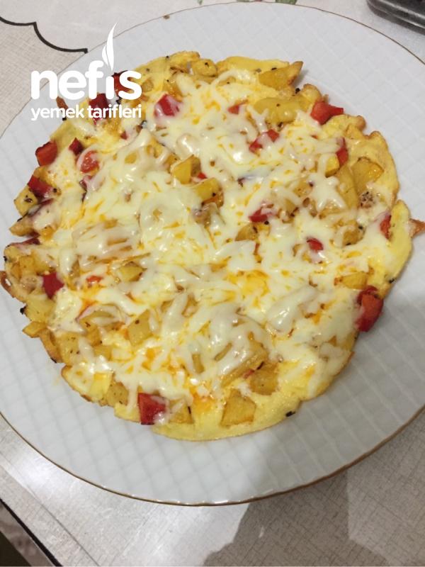 Patatesli Kaşarlı Omlet :)