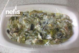 Patlıcanlı Biberli Yoğurtlu Salata Tarifi