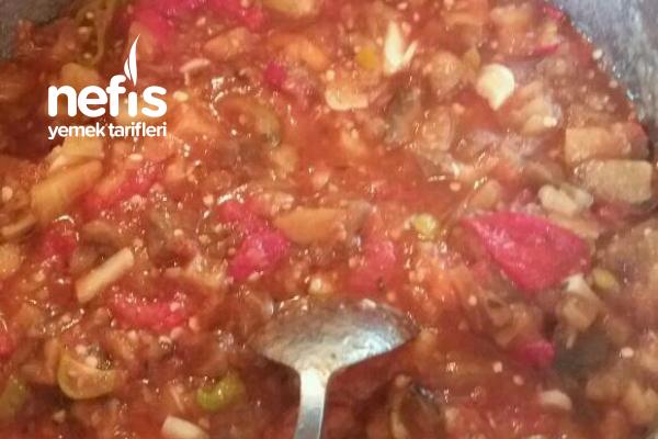 Domatesli Acılı Patlıcanlı Sos