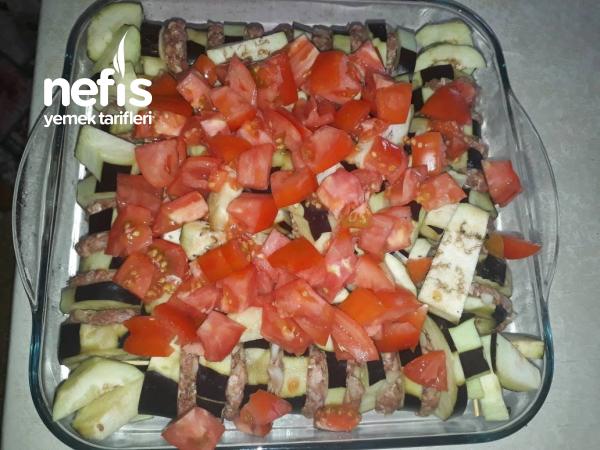 Köfteli Patlıcanlı Çöp Şiş