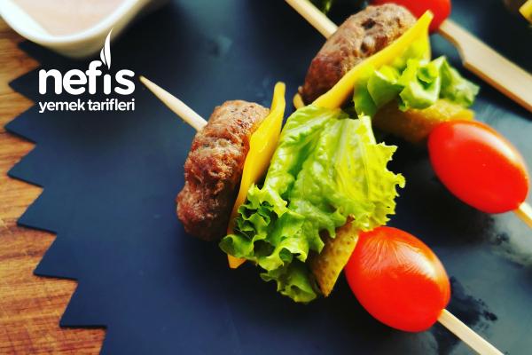 Mini Hamburger Şişleri Tarifi