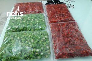 Dondurucu İçin Kırmızı Ve Yeşil Biber Tarifi