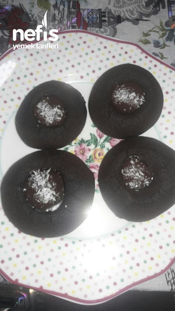 Kakaolu Kurabiye (çikolata soslu)