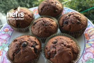 Kakaolu Damla Çikolatalı Muffin Tarifi