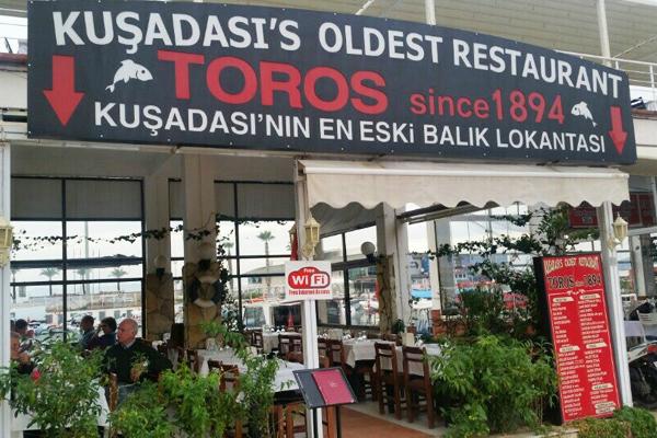 toros restaurant kuşadası