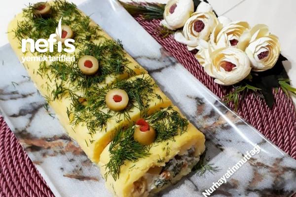 Garnitürlü Patatesli Rulo Dilim Salata Tarifi
