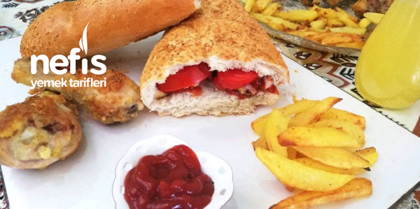 Lezzetli Ve Doyurucu Ekmek Arası Tarifi (Beslenme Çantası İçin)