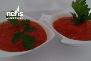 Közlenmiş Kırmızı Biber Patlıcan Ve Domates Sos Tarifi