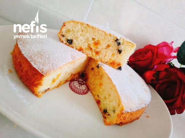 Nefis Mayalı Portakal Parçacıklı Kek